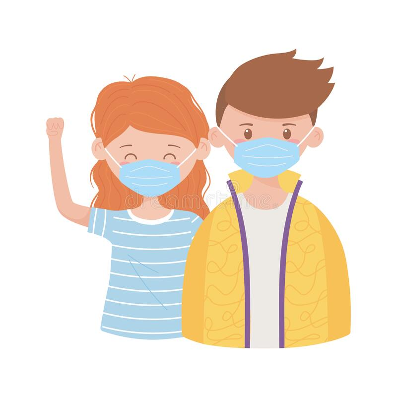 Free Covid 19 Prevention, Young Couple Wearing Medical Mask Royalty Free Stock Photos - 180393458