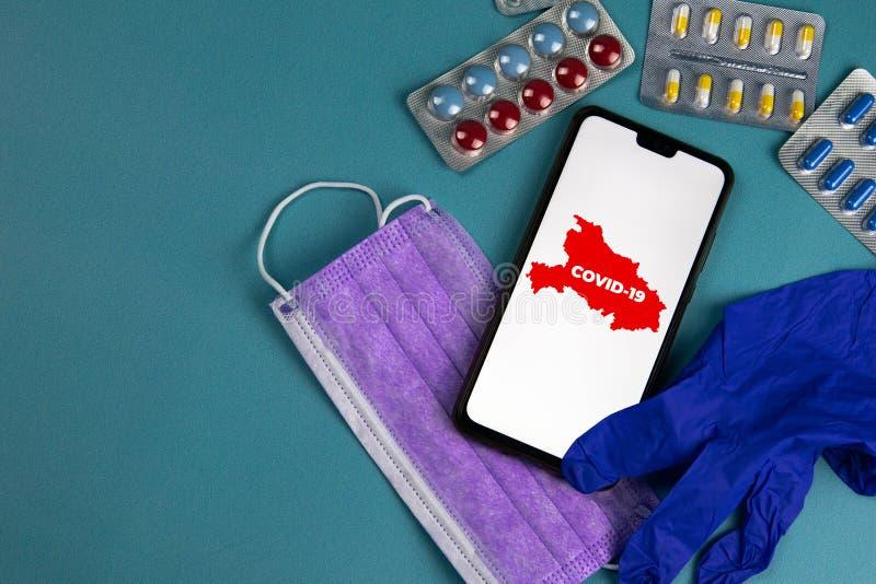 COVID 2019 Corona-Virus ausgebrochen Epidemic Virus Respiratory Syndrome China stockfotografie