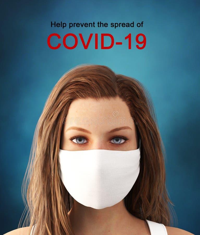 Covid-19 or coronavirus,Help prevent spreading the virus stock photography