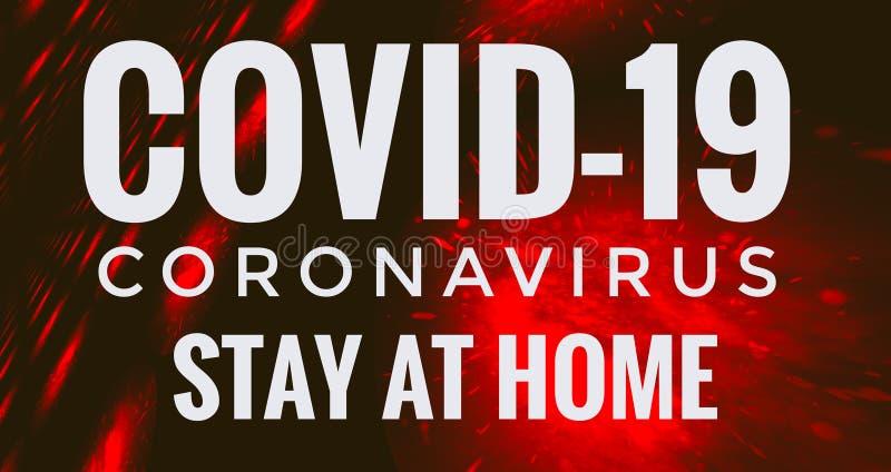 19 Coronavirus Stay At Home Header royalty free stock photo