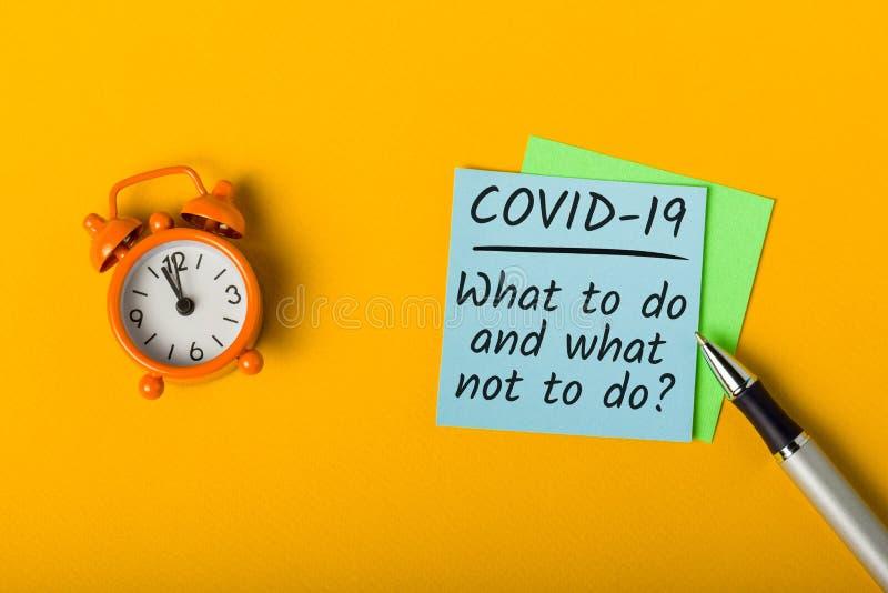 Covid-19 - Cosa fare - Polmonite Wuhan Novel Coronavirus Concetto di quarantena e pandemia immagini stock