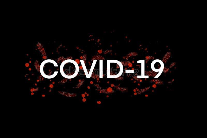 COVID-19, Hintergrundkonzept für den Coronavirus-Ausbruch stockbild