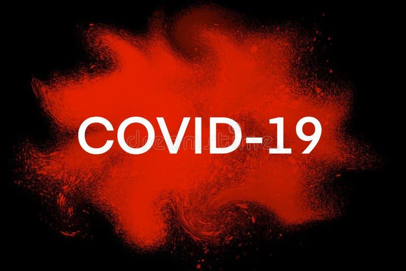 COVID-19,Hintergrundkonzept für den Coronavirus-Ausbruch lizenzfreie stockbilder