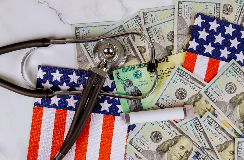 Covid 19 pandemic lockdown stimulus package financial refund check relief checks from government. Covid 19 pandemic lockdown stimulus package financial relief royalty free stock photos
