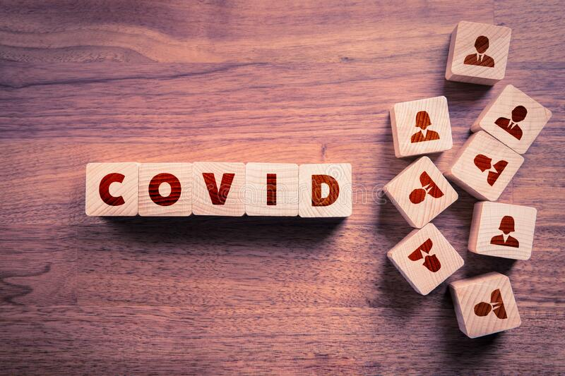 Covid-19 and people concept royalty free stock image