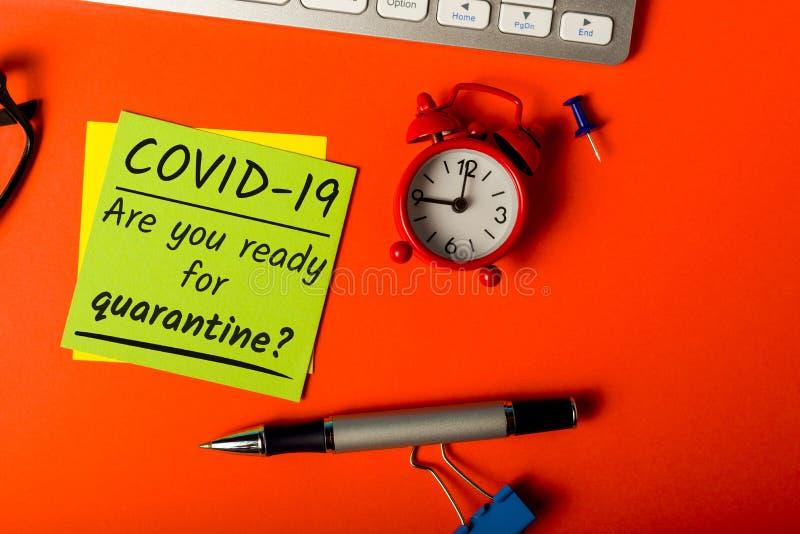 Covid-19 - Siete pronti per la quarantena? Pandemica Vid 19 concetto di focolaio di Coronavirus fotografia stock libera da diritti