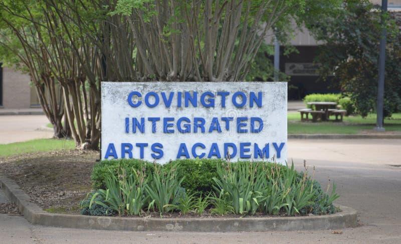 Covington a intégré l'académie d'arts, Covington, TN photographie stock libre de droits
