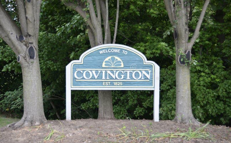 Covington, Tennessee Estblished im Jahre 1825 stockfotos
