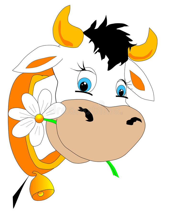 Download Cow stock vector. Image of farm, meadow, rural, hilly - 10499341
