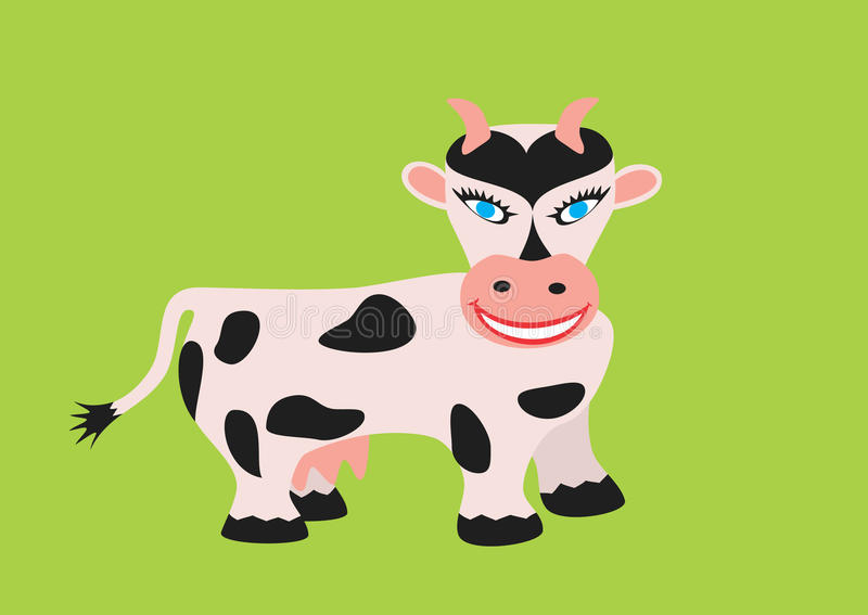 Download Cow stock vector. Image of white, painting, calf, black - 11647848