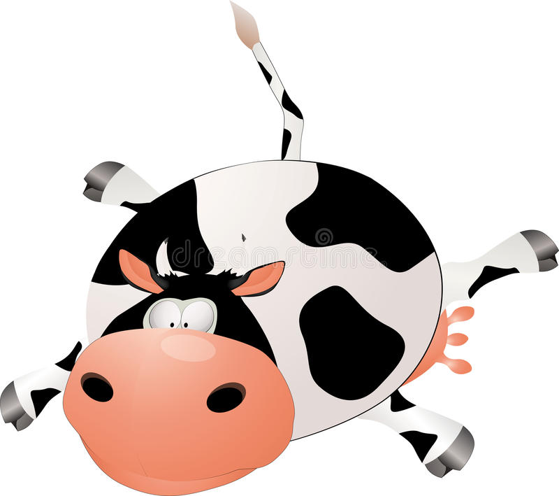 Download Cow stock vector. Image of curiosity, life, humor, innocence - 12964237