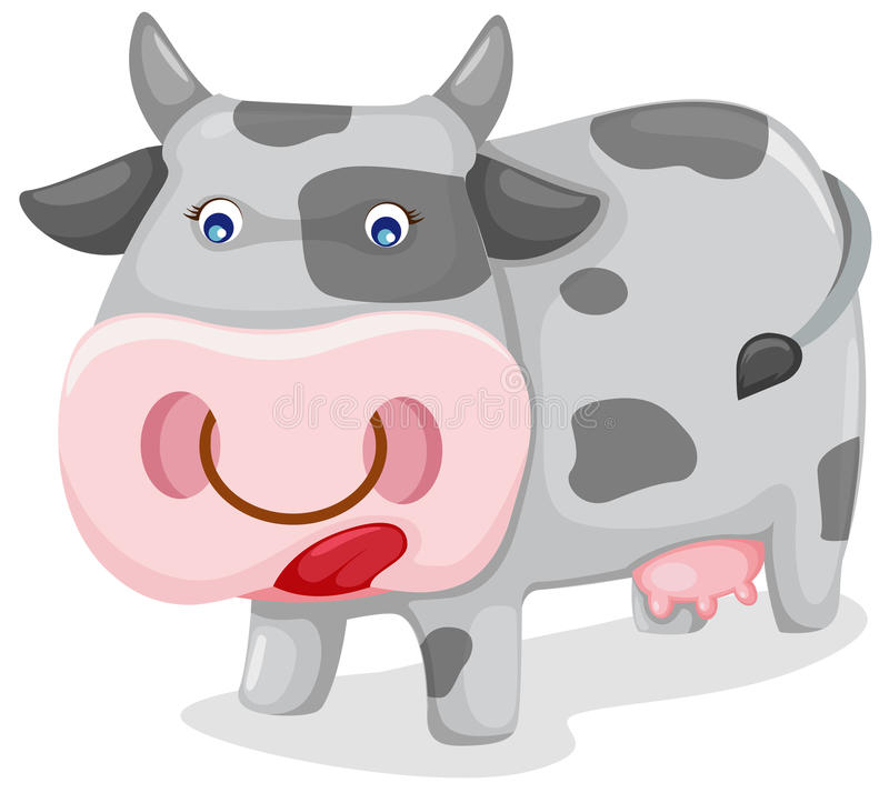 Download Cow stock vector. Image of cartoon, farmer, animal, graphic - 13173480