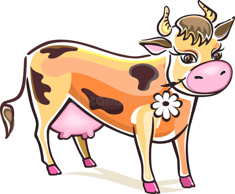 Download Cow stock vector. Image of dairy, illustrations, udders - 20257772