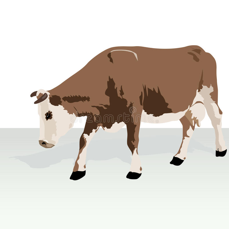 Download Cow stock vector. Image of brown, background, milk, mammal - 26922328