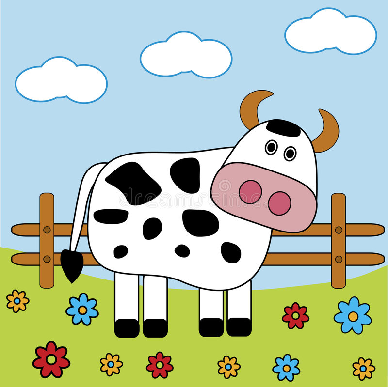 Download Cow stock vector. Image of animals, domestic, artistic - 6738537