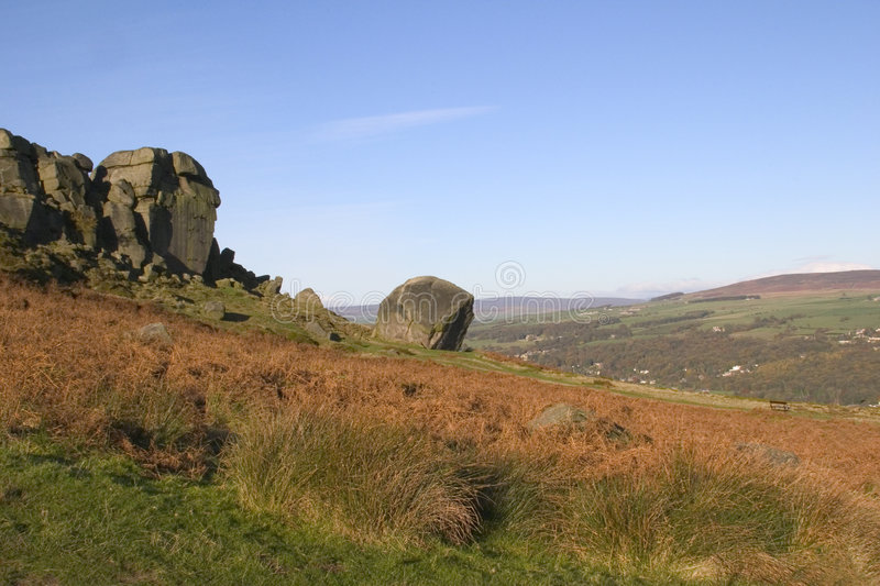 Download Cow And Calf Rocks, Ilkley Moor, West Yorkshire Stock Image - Image: 1084463
