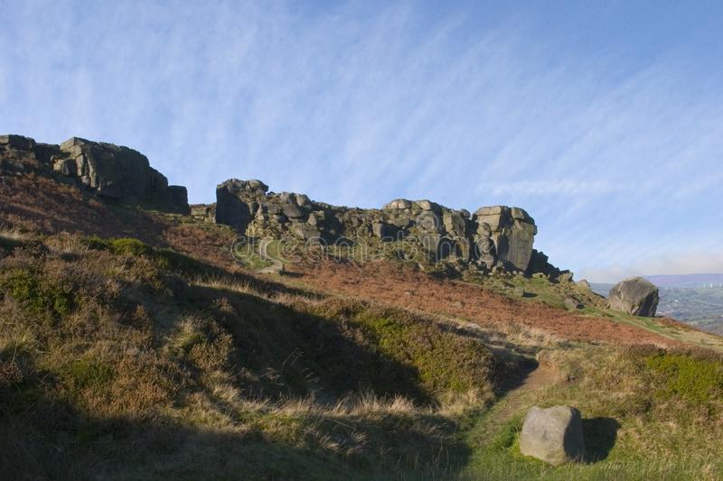 Download Cow And Calf Rocks, Ilkley Moor, West Yorkshire Stock Image - Image: 1084685