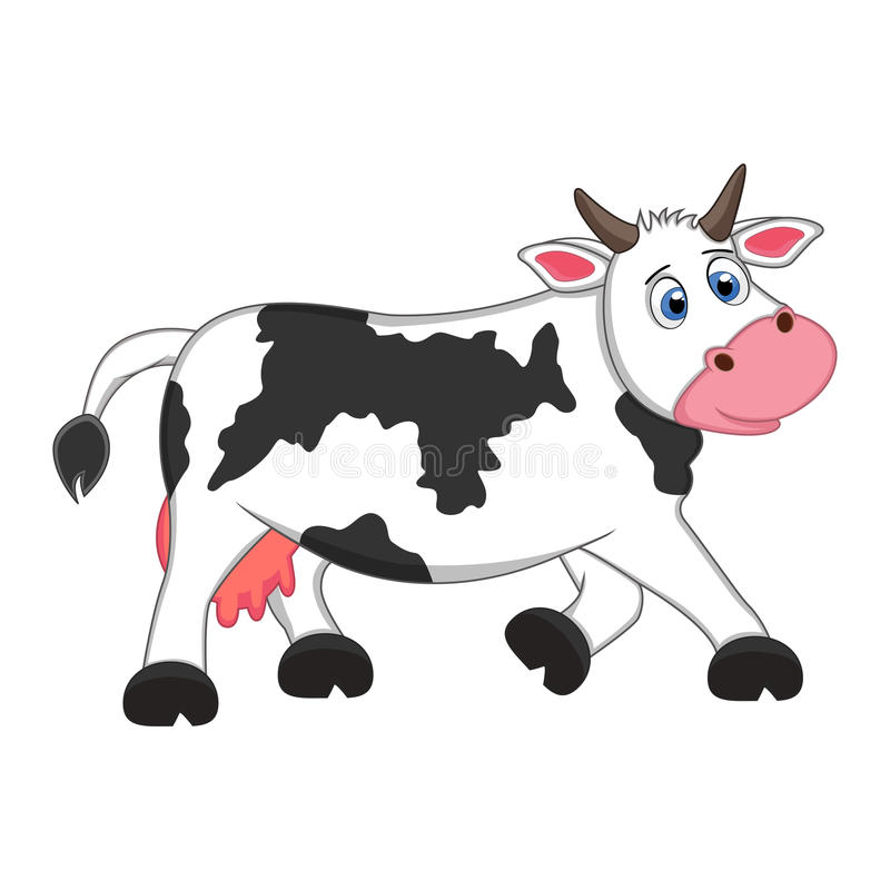 Cow Cartoon Stock Vector. Illustration Of Cattle, Cute - 59958875