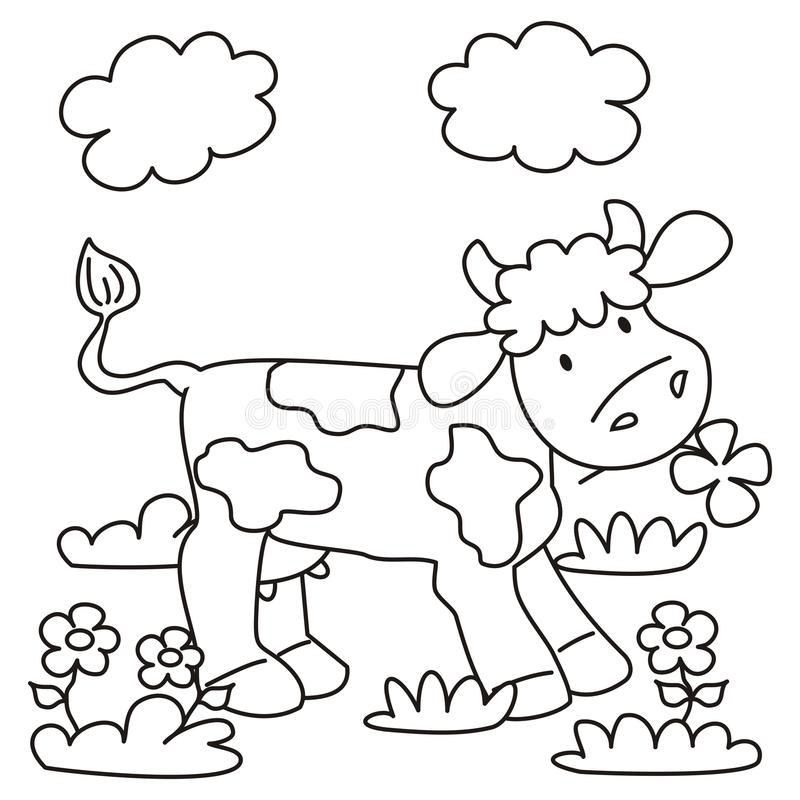 Cow - Coloring Stock Photo