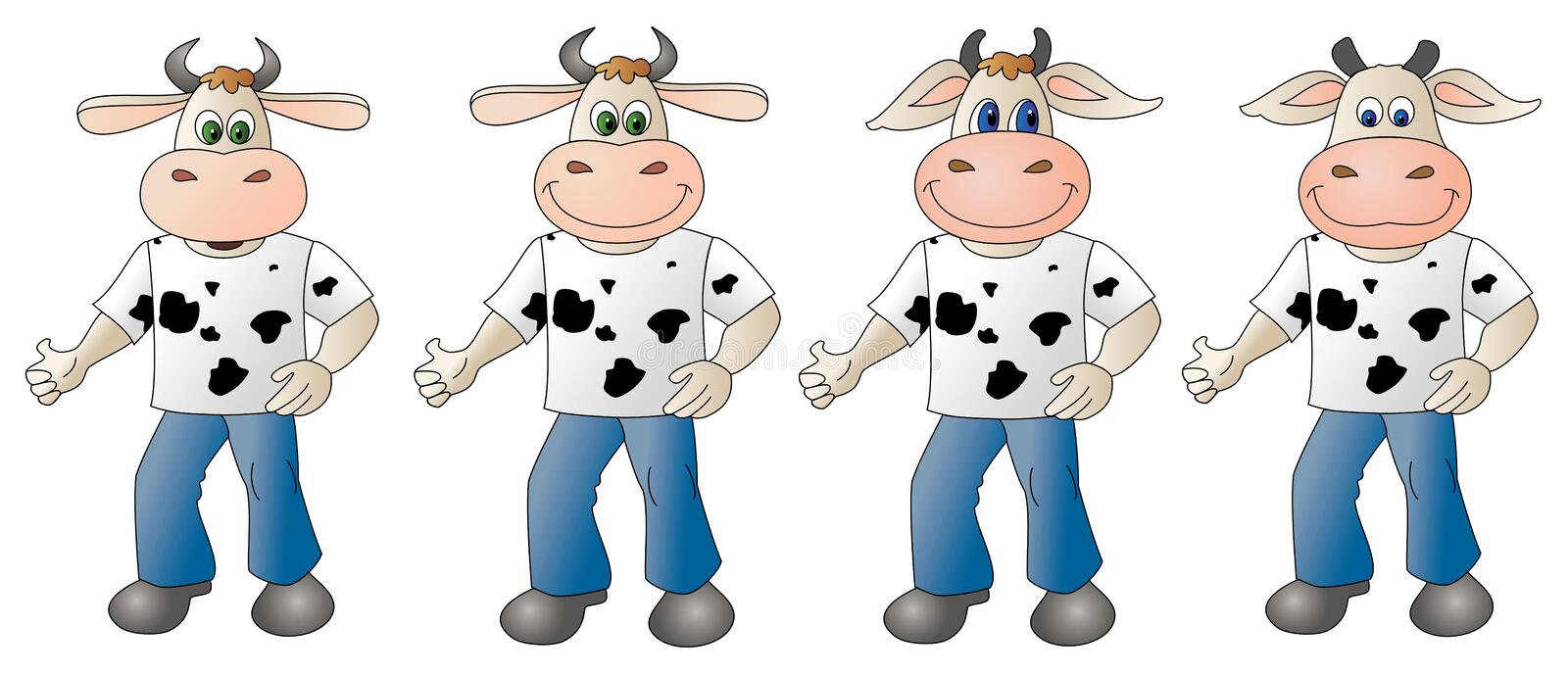 Cow 4- composite royalty free stock photography