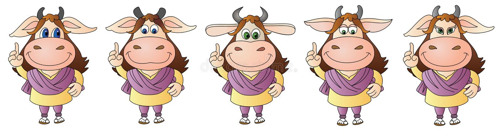 Cow 9 - Composite royalty free stock image