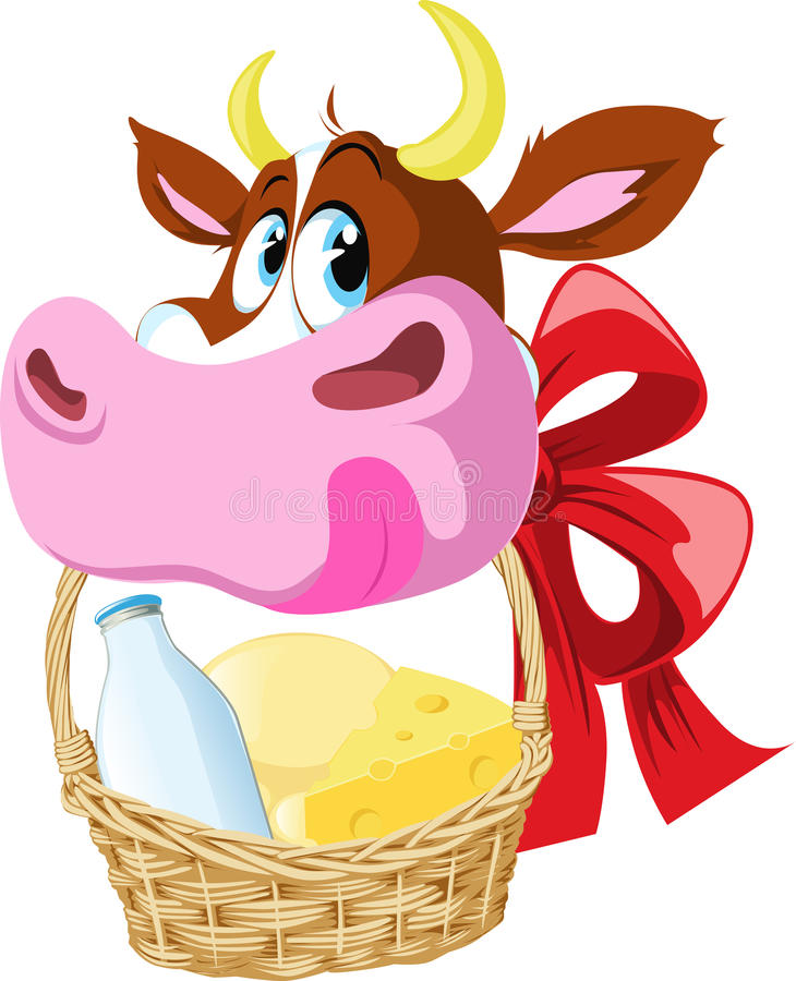 Download Cow delivering dairy food stock vector. Image of dairy - 26653099