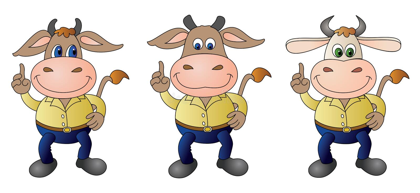 Cow 5 dressed - composit stock images