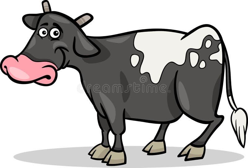Cow Farm Animal Cartoon Illustration Stock Image