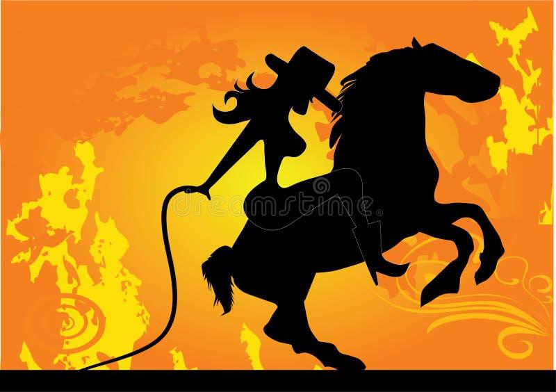 Cow-girl illustration stock