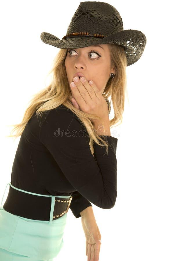 Cow-girl dans le regard vert de côté de jupe de retour photo libre de droits