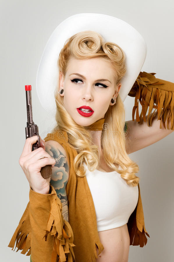 Cow-girl de Pinup photos stock