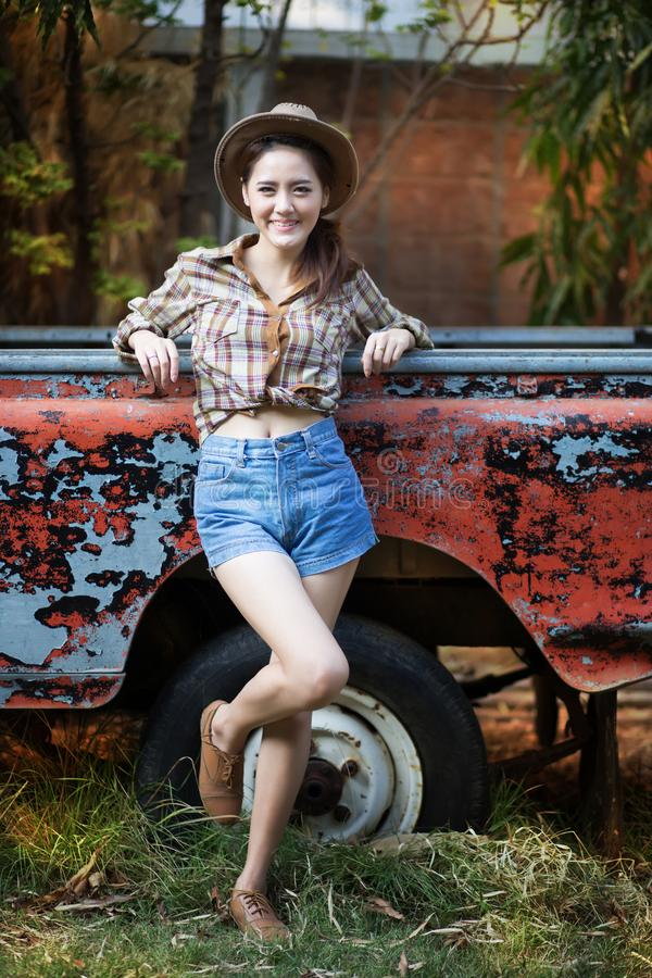 Cow-girl photo libre de droits