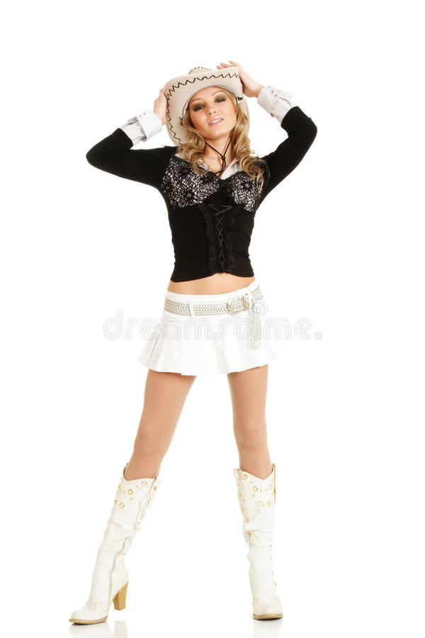 cow-girl sexy photo stock