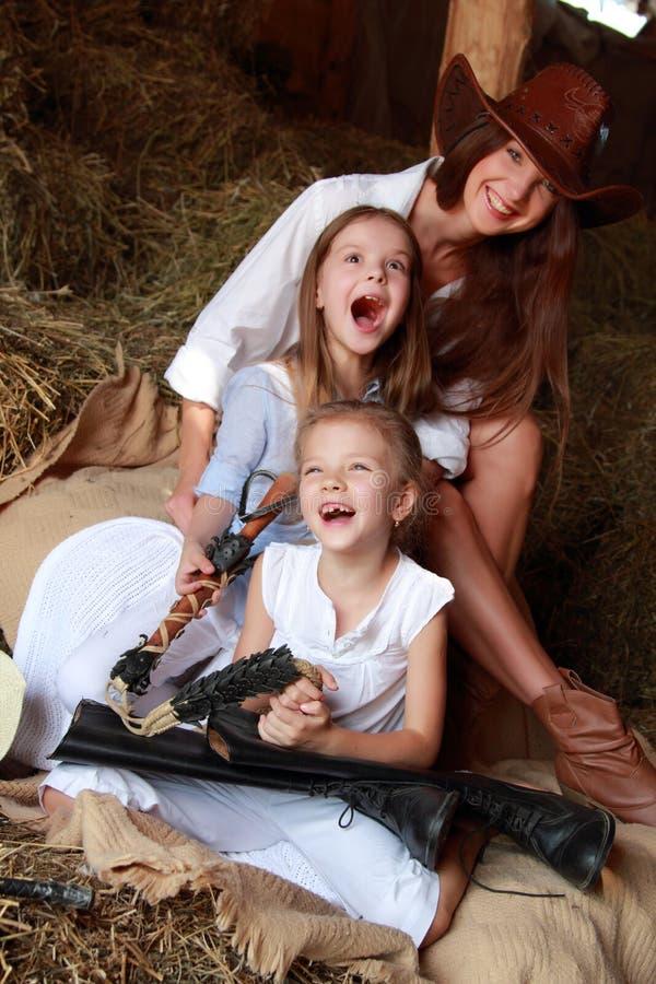 Cow-girls drôles images libres de droits