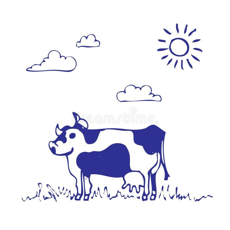 Cow Grazes Royalty Free Stock Photo