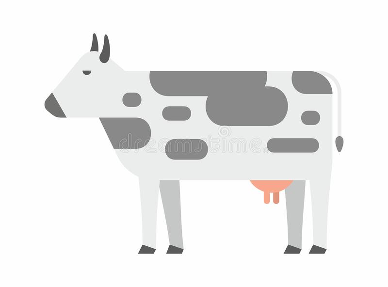 Black And White Engrave Isolated Cow Stock Vector