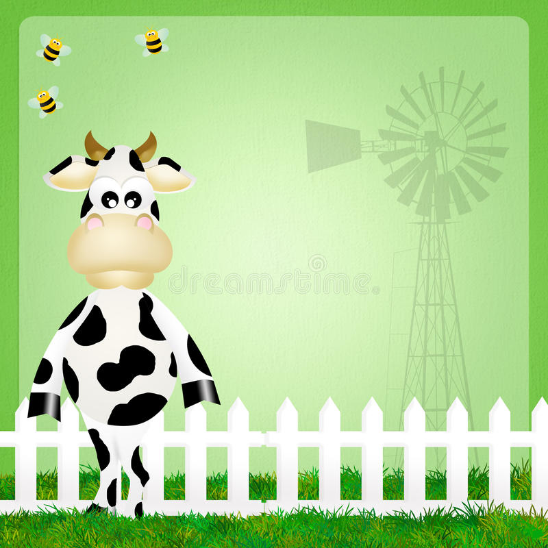 Download Cow stock illustration. Image of breakfast, funny, background - 37062625