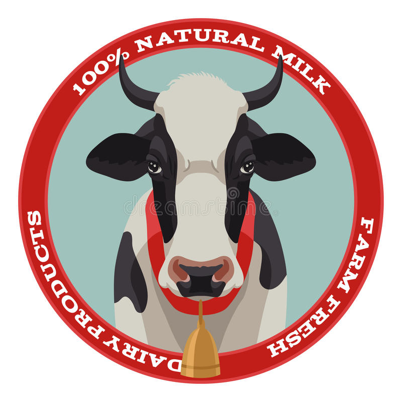 Free Cow Label, Red Style Royalty Free Stock Images - 50582839