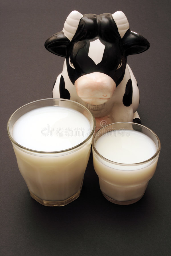 Cow and Milk royalty free stock image