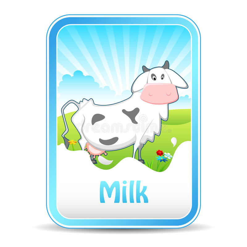 Download Cow on Milk Banner stock vector. Illustration of grassland - 24684953