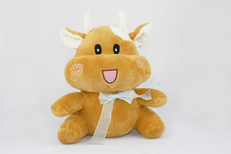Cow plush toys stock images