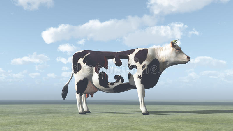 Download Cow Puzzle stock illustration. Image of agriculture, problem - 26122752