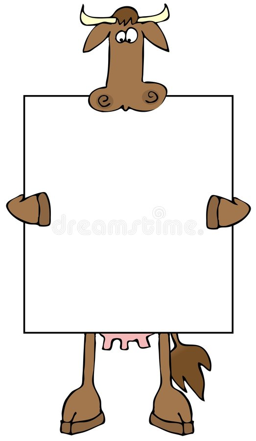 Cow Sign stock illustration