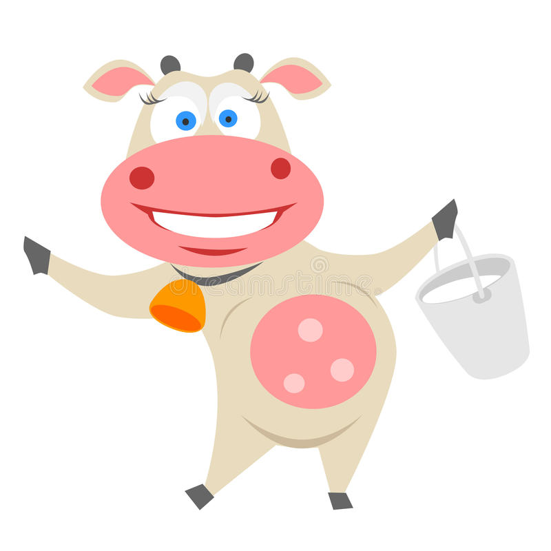 Download Cow stock vector. Illustration of animal, cartoon, milk - 31352627