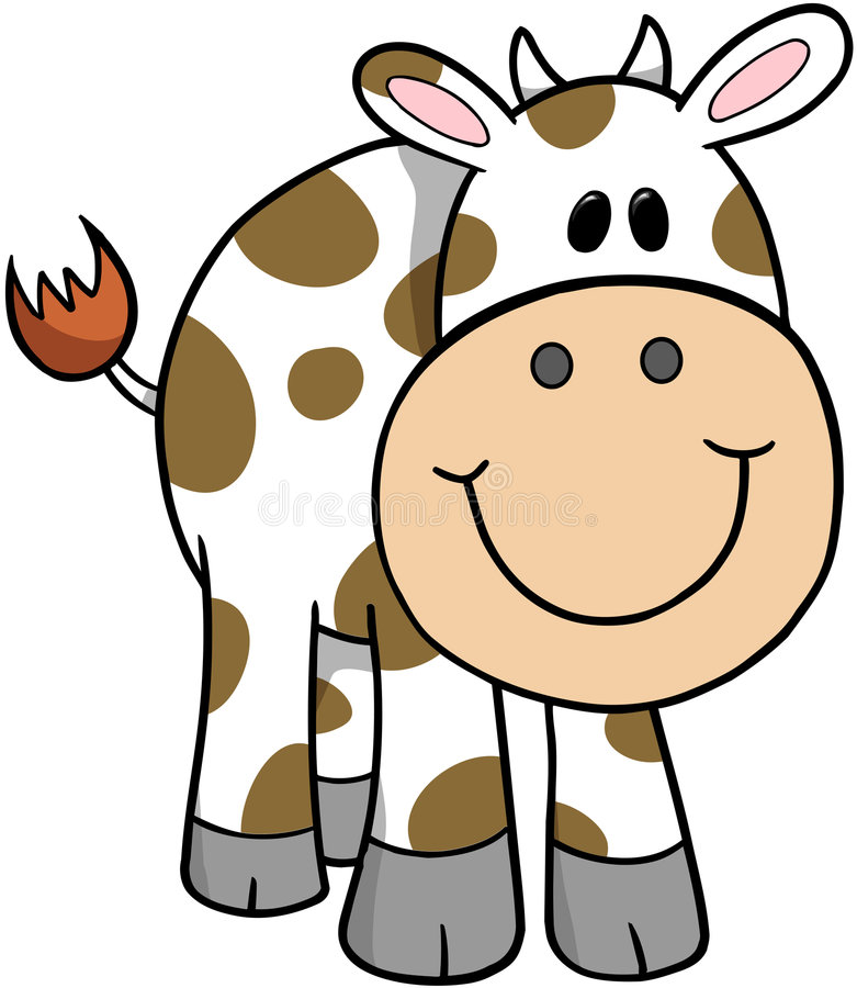 Free Cow Vector Illustration Royalty Free Stock Photos - 4008618