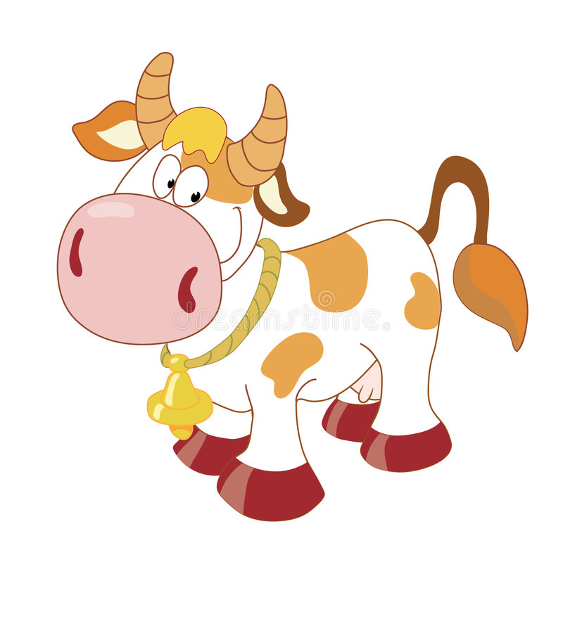 Free Cow_with_bell Royalty Free Stock Photos - 4975118