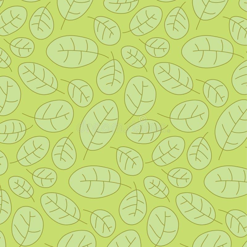cowberry βγάζει φύλλα το πρότυπο άνευ ραφής διανυσματική απεικόνιση