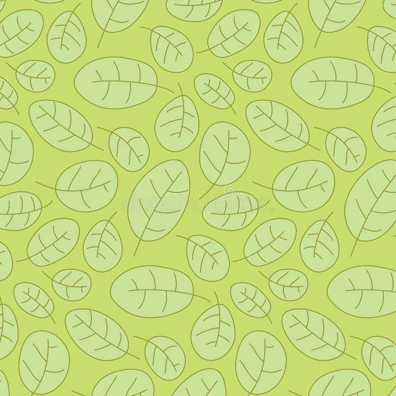 Cowberry leafs seamless pattern royalty free stock image
