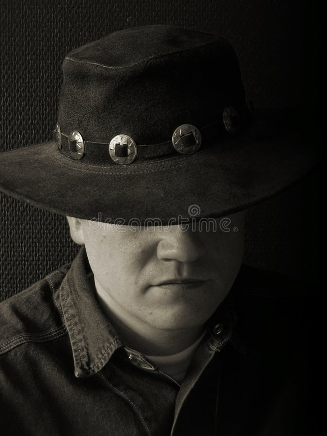 Download Cowboy stock photo. Image of dark, portrait, young, mood - 8448