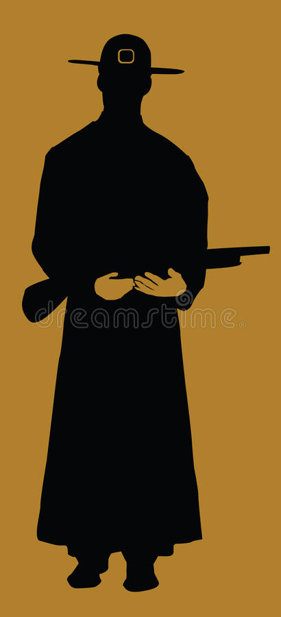 Download Cowboy stock vector. Illustration of teen, buckle, silhouette - 10563276